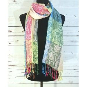 Pashmina & Silk Colorful Patterned Scarf